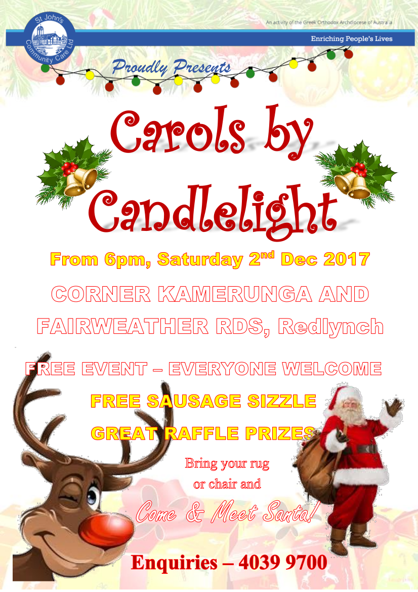 Carols by candle light. Caroling clipart activity