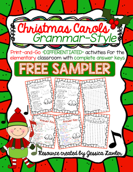 Caroling clipart activity. Christmas carols grammar activities