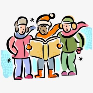 Caroling clipart activity. Carolling christmas carols png
