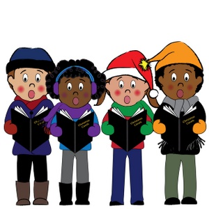 Christmas carols fun for. Caroling clipart activity
