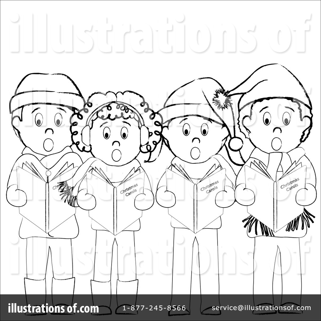 Christmas illustration by pams. Caroling clipart african american