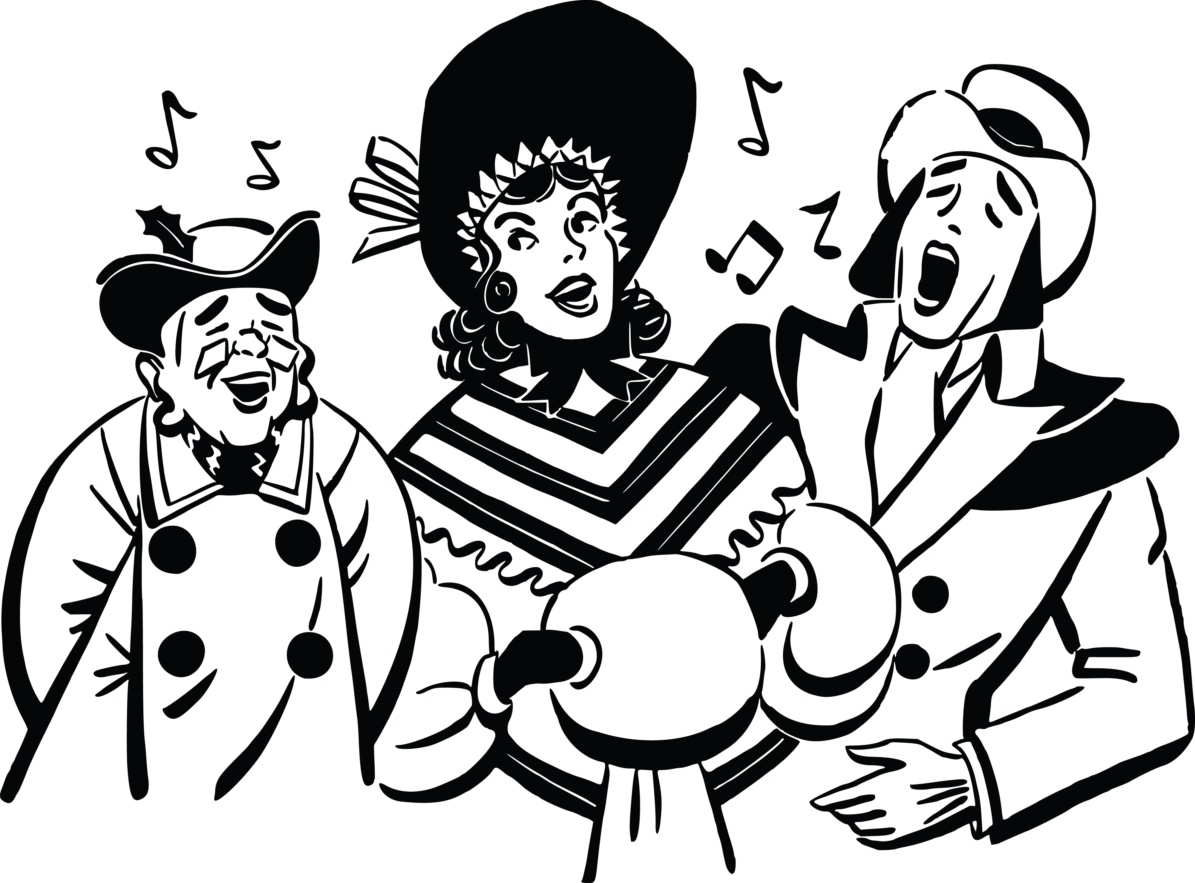 Caroling clipart african american.  collection of christmas