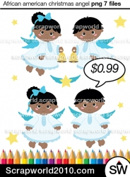 Vector stock and paper. Caroling clipart african american
