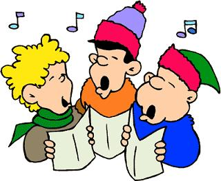 Caroling clipart animated. Free christmas carolers boys