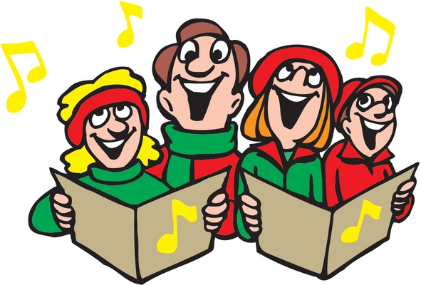 Caroling clipart animated. Cartoon images of christmas