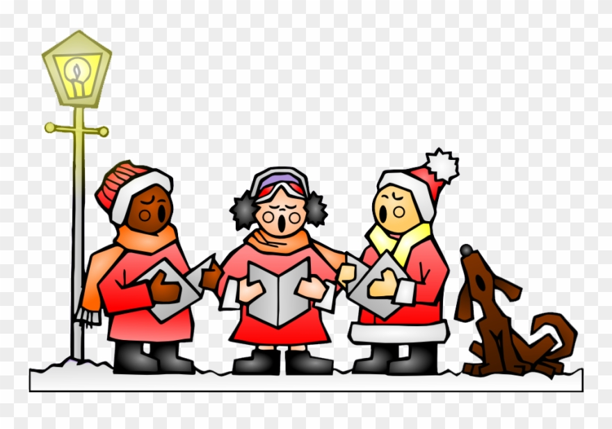 Caroling clipart animated. Free christmas png