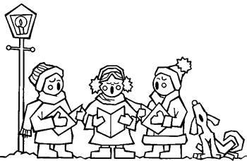 Caroling clipart black and white. Free cliparts download clip