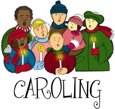 Christmas to shut ins. Caroling clipart carol service
