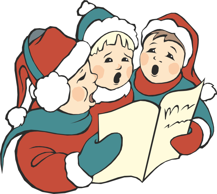 Caroling clipart carol service. Christmas eve at washington