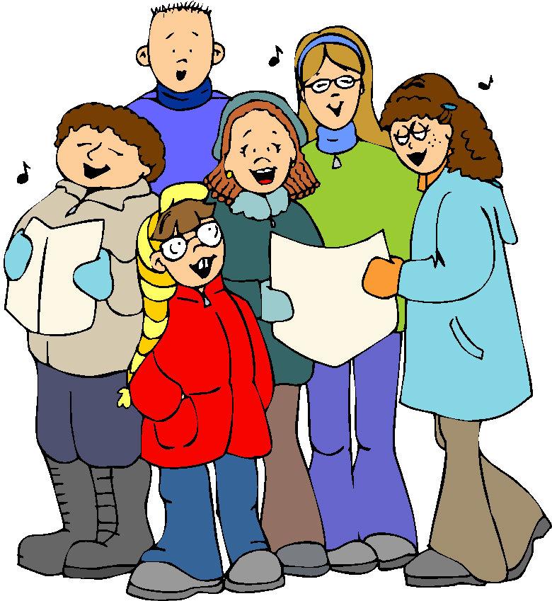 Caroling clipart carol service. Free christmas singers cliparts