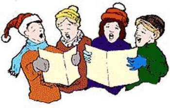 Caroling clipart carol singer. Free picture of four