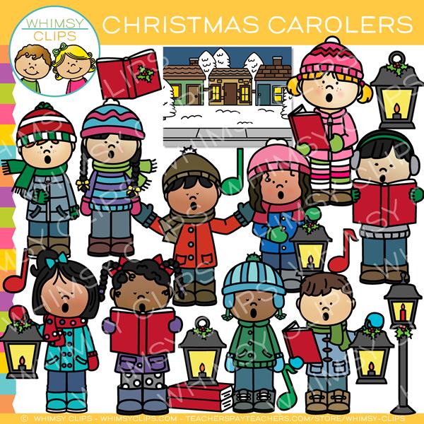 Caroling clipart caroller. Christmas clip art images