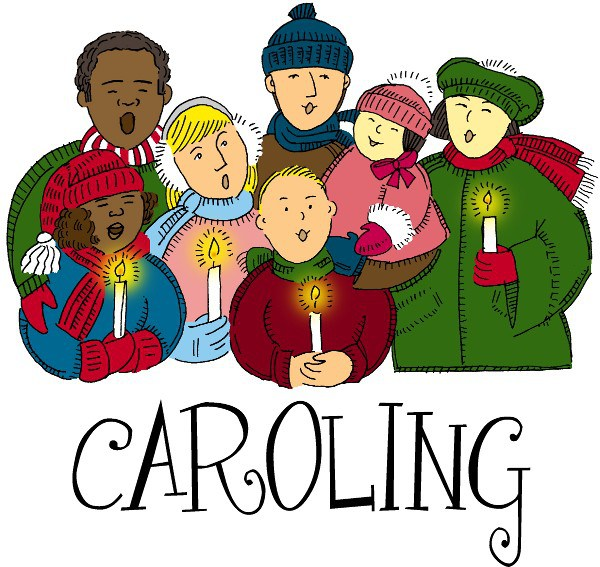Nyc christmas and sing. Caroling clipart carols by candlelight