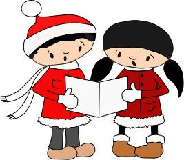Free christmas singers cliparts. Caroling clipart carols by candlelight