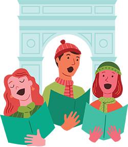 Christmas events west village. Caroling clipart children's