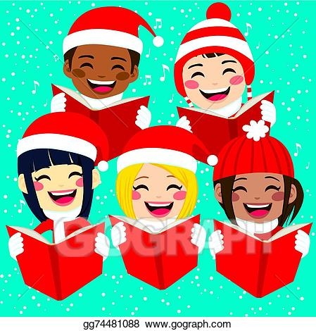 Clip art royalty free. Caroling clipart children's