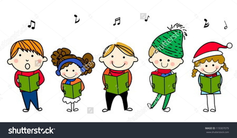 Caroling clipart children's. Clip art christmas winsome