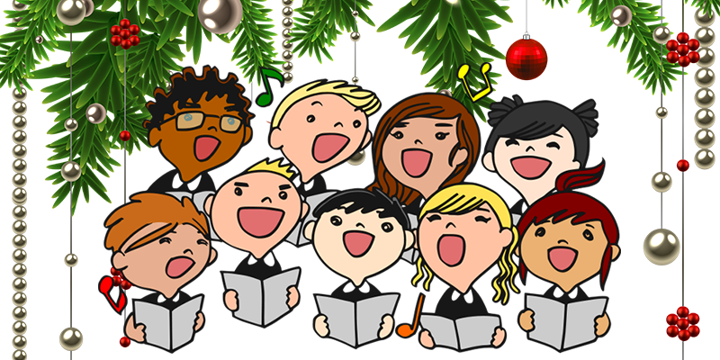 Caroling clipart choir. The story from metropolis