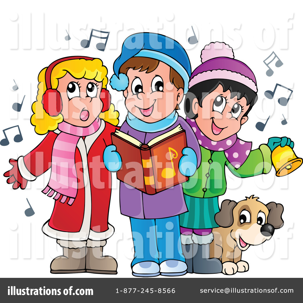 Caroling clipart christmas. Carols illustration by visekart