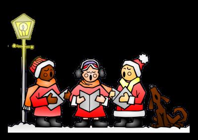 . Caroling clipart christmas