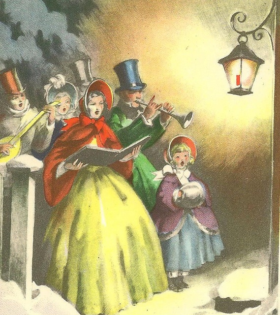 best images on. Caroling clipart christmas light post