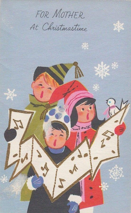 Caroling clipart christmas light post.  best here we
