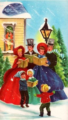 Image result for victorian. Caroling clipart christmas light post