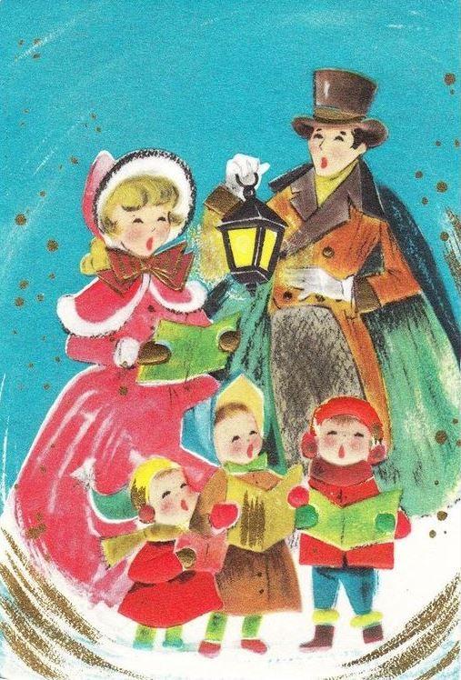 best bells old. Caroling clipart christmas light post