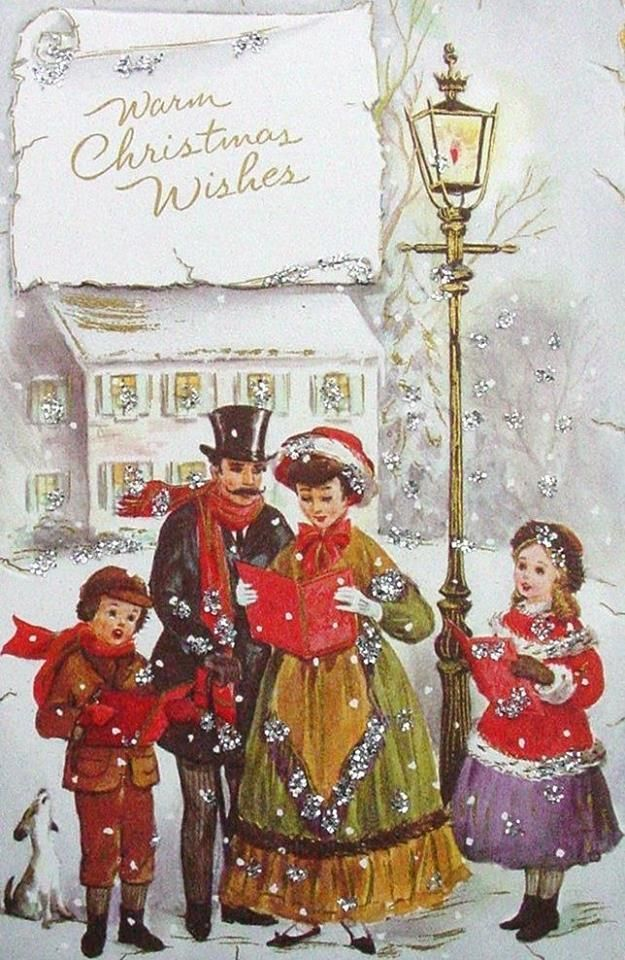 Caroling clipart christmas light post.  best old ards