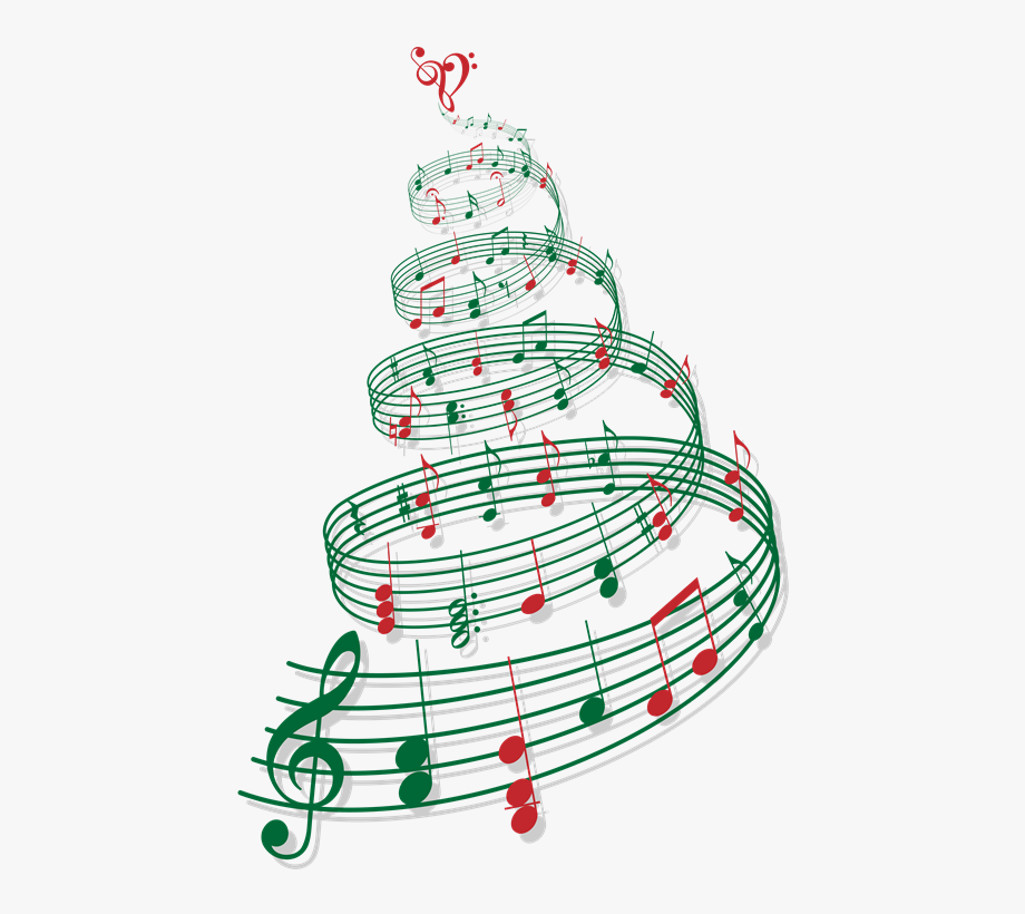 Caroling clipart christmas music notes. Musical tree png