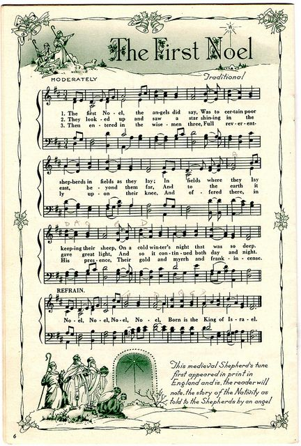 best vintage printable. Caroling clipart christmas music notes