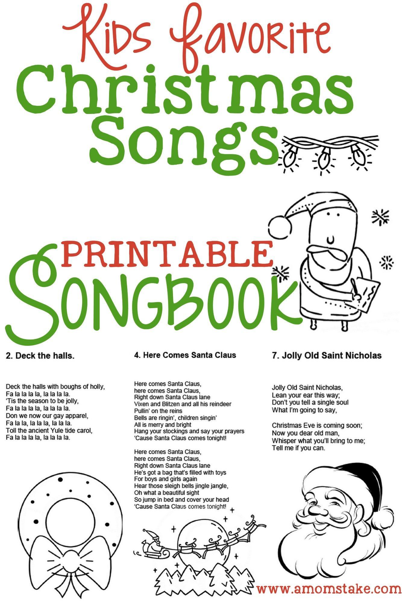 Caroling clipart christmas program. Kids songbook songs for