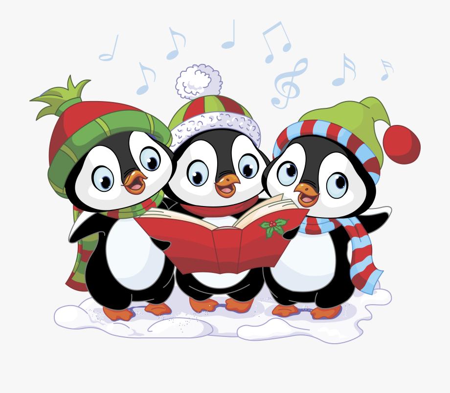Caroling clipart christmas program. Chorus action song carols