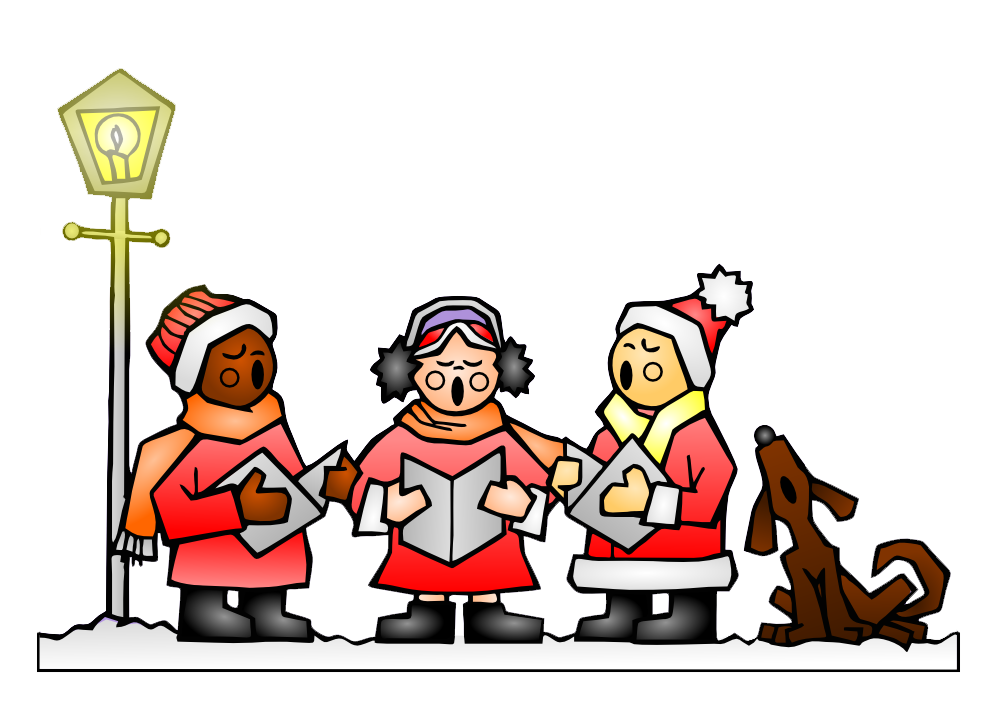 Carols fun for. Caroling clipart christmas program