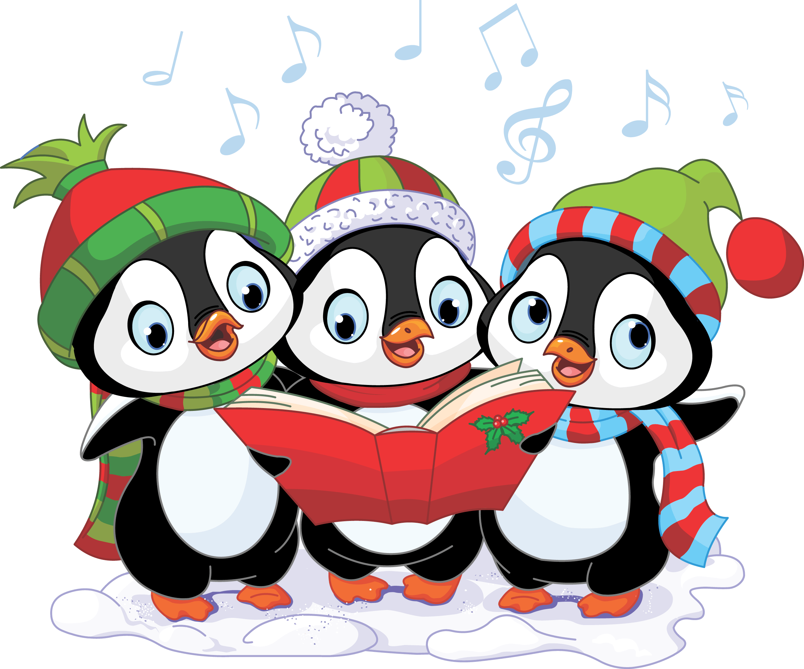 Caroling clipart concert. Here we come a