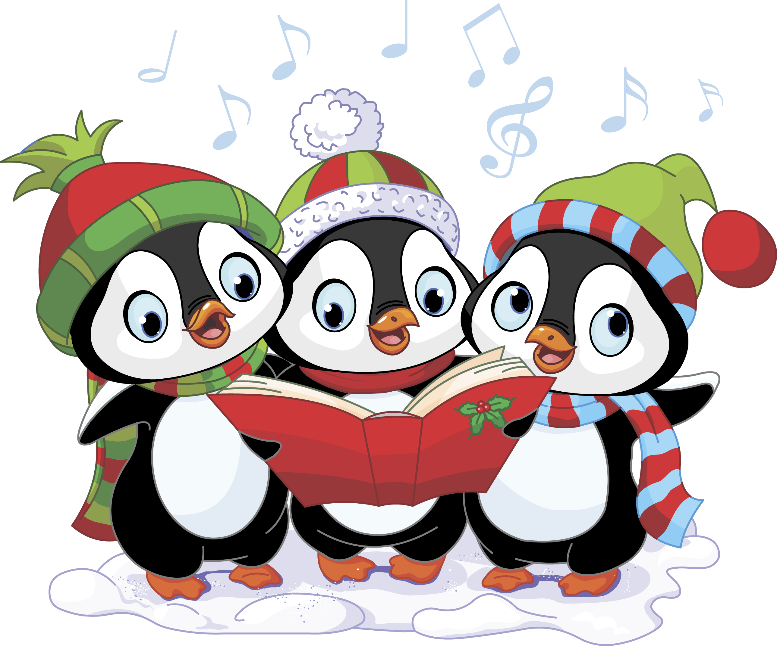 Here we come a. Caroling clipart concert