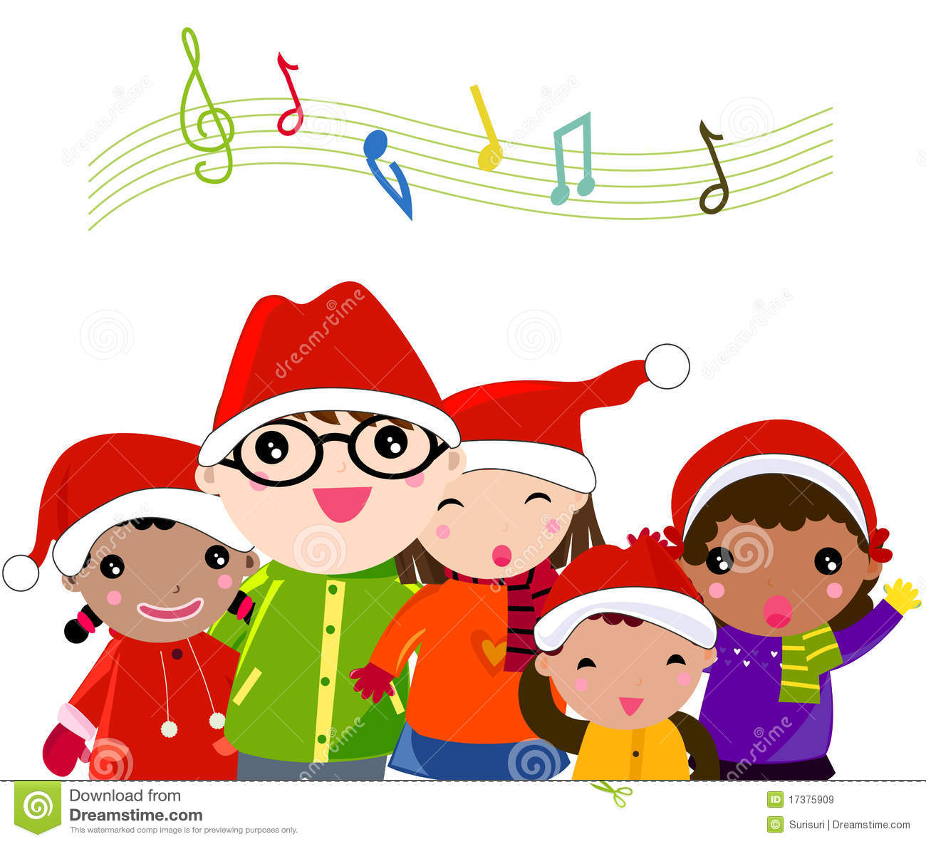 Caroling clipart concert.  collection of children
