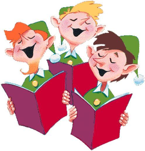 Why do we sing. Caroling clipart cute