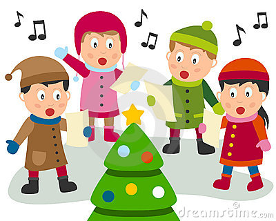 collection of christmas. Caroling clipart cute