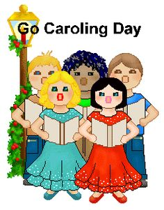 Th is go day. Caroling clipart december