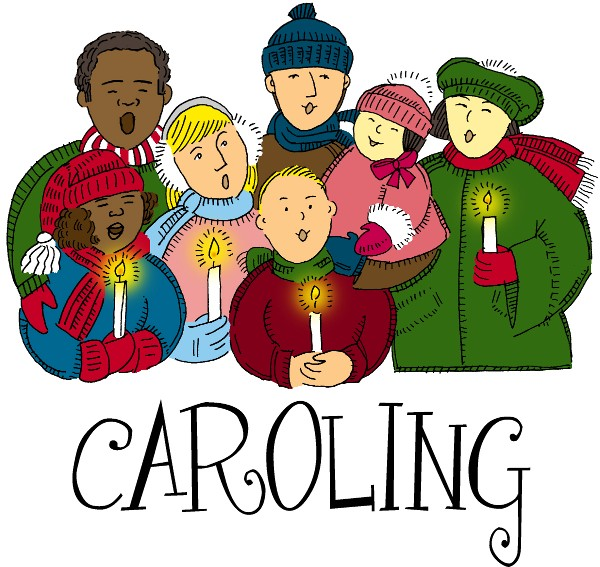 Caroling clipart december. St andrew s neighborhood