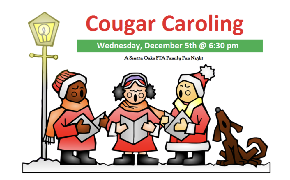 Caroling clipart family. Cougar sierra oaks k