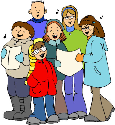 Caroling clipart family. Christmas remembrance of things