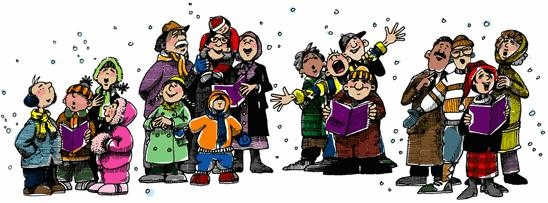 Caroling clipart group. Christmas bethlehem presbyterian church