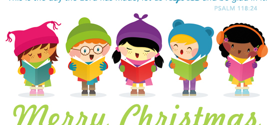 Christmas ames first united. Caroling clipart group