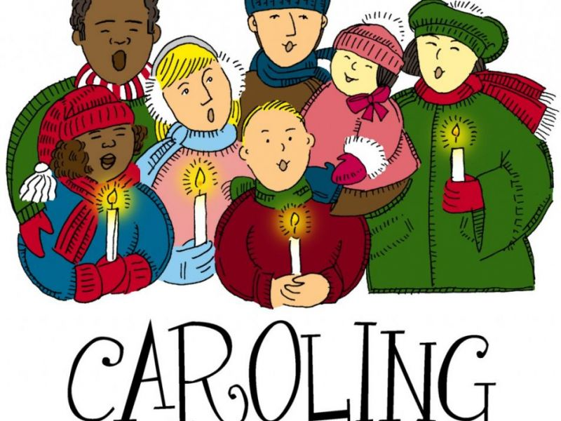 Caroling clipart group. Christmas for pro life