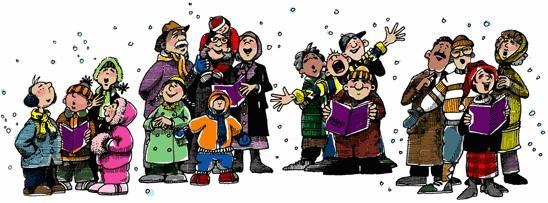 Christmas our saviour s. Caroling clipart group