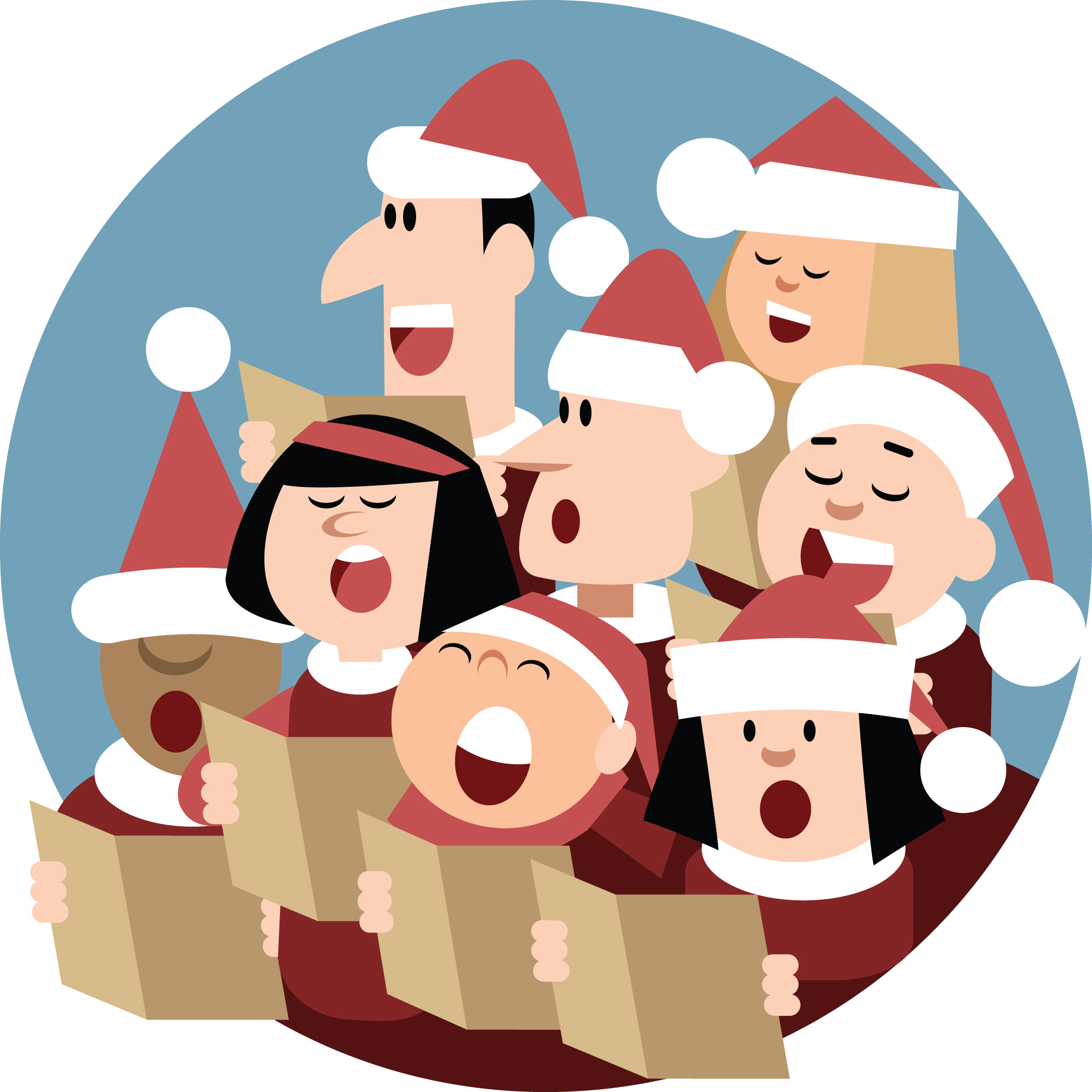 Spreading joy is a. Caroling clipart group