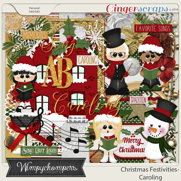Caroling clipart memories. Gingerscraps shop by holiday