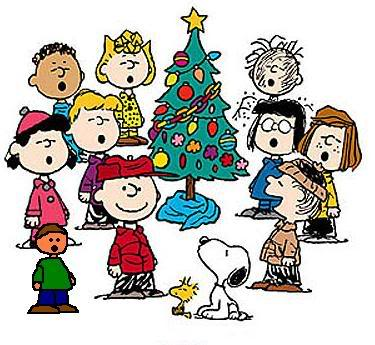 Caroling clipart merry christmas. Peanuts characters
